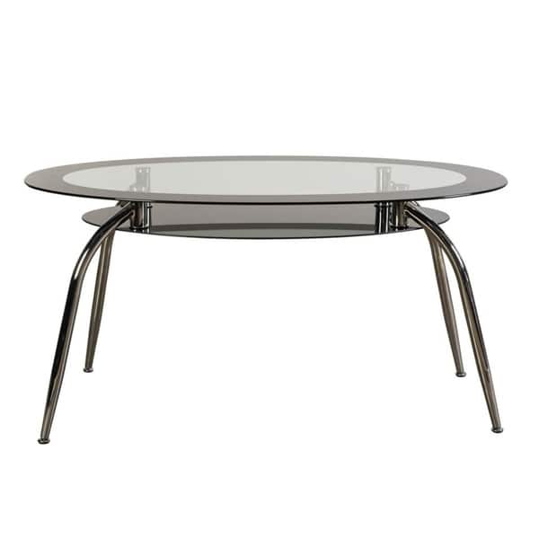 Shop Square Cutout Oval Glass Dining Table - Free Shipping ...