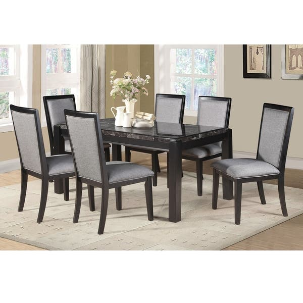 Black And Grey Rectangular Dining Table