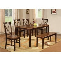 Home Source Nell Mahogany Rectangle Dining Table - hard wood