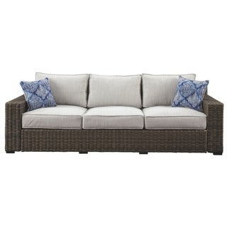 Signature Design by Ashley Alta Grande Gray Outdoor Sofa
