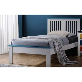 Buklet Blue and White Finish Bed
