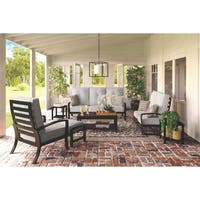 Signature Design by Ashley Castle Island Gray Outdoor Sofa