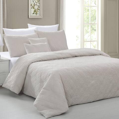 Amrapur Overseas 5-piece Microfiber Embossed Comforter Set