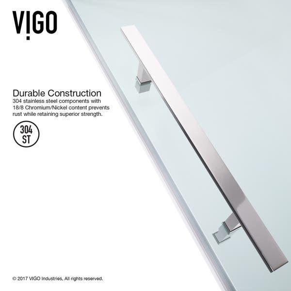 Shop VIGO Ontario Frameless Neo-angle Shower Enclosure with Base