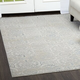 "Brooksville Ivory Area Rug by Christian Siriano - 5'3"" x 7'2"""