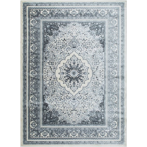 "Jersey Ivory-Gray Area Rug by Christian Siriano - 7'9""x10'2"""