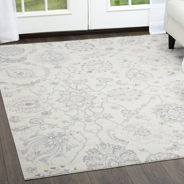 Brooksville Light Gray Area Rug By Siriano 7 X27