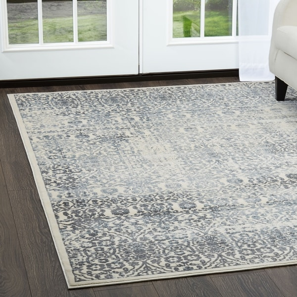 Shop Jersey Ivory Blue Area Rug By Christian Siriano 7 9