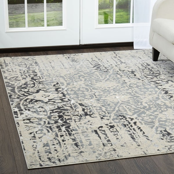 Shop Jersey Gray Area Rug By Christian Siriano 7 9 Quot X10 2