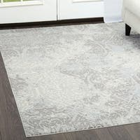 """Brooksville Ivory-Gray Area Rug by Christian Siriano - 5'3"""" x 7'2"""""""