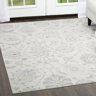 "Brooksville Light Gray Area Rug by Christian Siriano - 5'3"" x 7'2"""