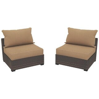 Signature Design By Ashley Spring Ridge Beige Outdoor Armless Chairs Set Of  2