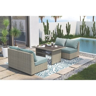 Signature Design by Ashley Silent Brook Blue Outdoor Armless Chair