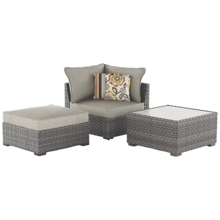 Spring Dew 3-Piece Outdoor Sectional Set - Gray