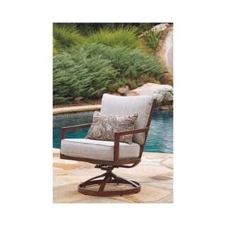 Signature Design by Ashley Zoranne Beige Swivel Chairs