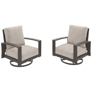 Signature Design by Ashley Cordova Reef Beige Swivel Chairs Set of 2