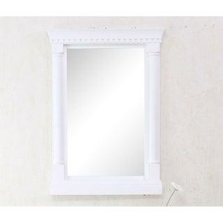 24 in. x 33 in. Framed Wall Mirror in Matt White