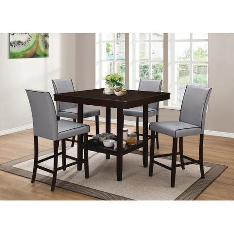 Flynn Square Dining Table with Storage Shelf
