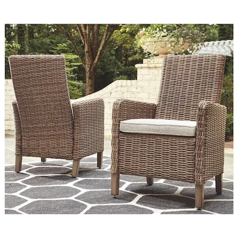 Beachcroft Outdoor Dining Chairs Set of 2 - Beige