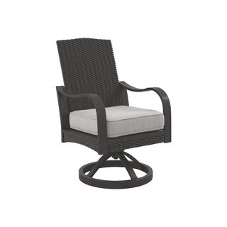 Signature Design by Ashley Marsh Creek Beige Swivel Chairs Set of 2
