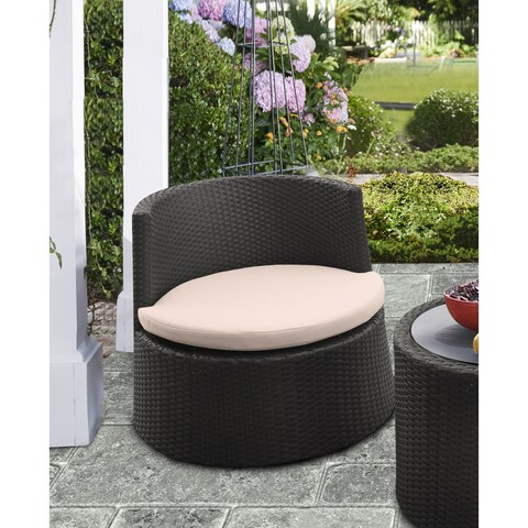Armen Living Kailani Outdoor WickerPatio Chair with Cushions (Set of 2)