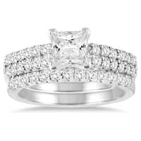 1 3/4 Carat TW Princess Diamond Bridal Set in 14K White Gold
