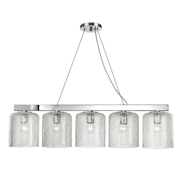 Hudson Valley Charles 5-light Polished Nickel Island Light