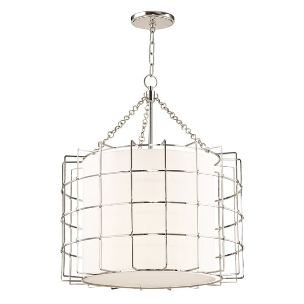 Hudson Valley Sovereign 3-light Polished Nickel Pendant