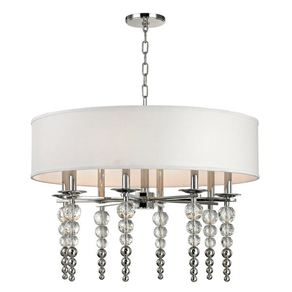 Hudson Valley Persis 8-light Polished Nickel Pendant