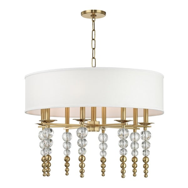 Hudson Valley Persis 8-light Aged Brass Pendant