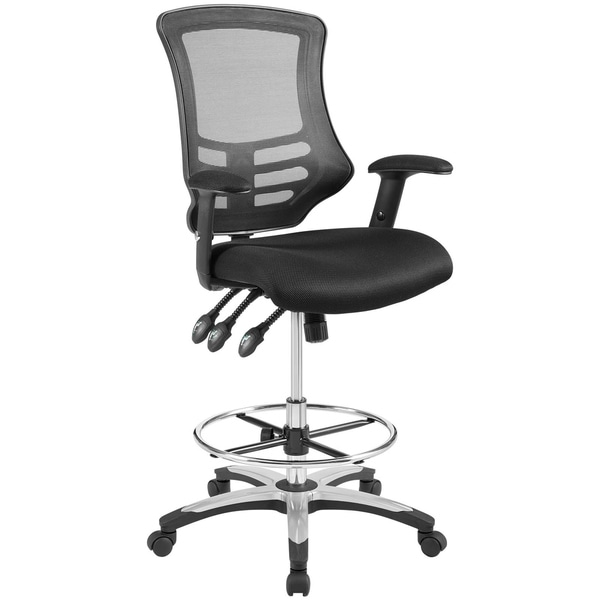 Calibrate Mesh Drafting Chair  sc 1 st  Overstock.com & Shop Calibrate Mesh Drafting Chair - On Sale - Free Shipping Today ...