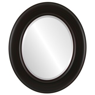 Marquis Framed Oval Mirror in Black Cherry - Brown/Cherry