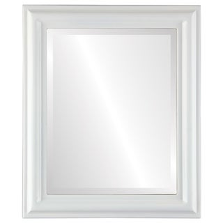Philadelphia Framed Rectangle Mirror in Linen White