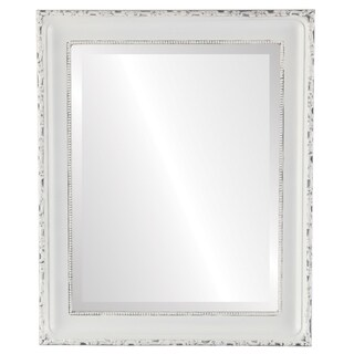 Kensington Framed Rectangle Mirror in Linen White