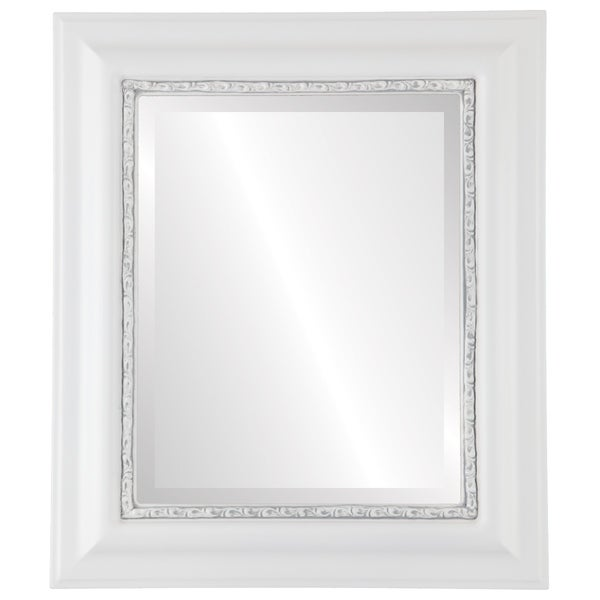 Chicago Framed Rectangle Mirror in Linen White. Opens flyout.