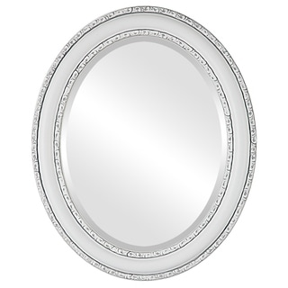 Dorset Framed Oval Mirror in Linen White
