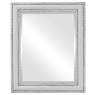 Dorset Framed Round Mirror in Linen White