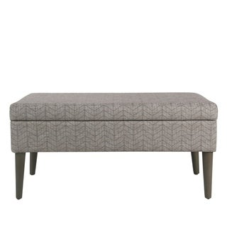 Homepop Mid-Century Storage Bench - Textured Gray