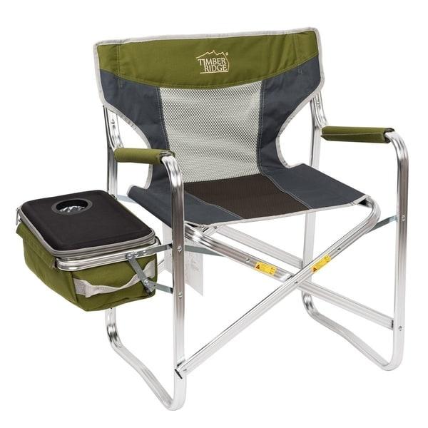 Shop Timber Ridge Folding Director S Chair With Cooler Bag