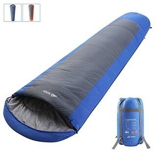 SEMOO Mummy Sleeping Bag, Lightweight Camping Bag 23F/-5C, Blue