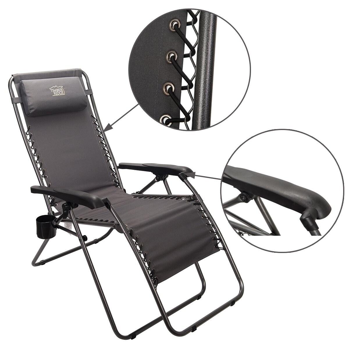 Groovy Timber Ridge Zero Gravity Lounge Chair Patio Recliner Supports 300Lbs Creativecarmelina Interior Chair Design Creativecarmelinacom