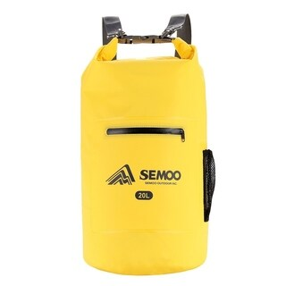 SEMOO Lightweight Dry Bag - Waterproof 500D PVC with Strap, Yellow