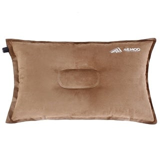 SEMOO Self-Inflating Camping and Compressible Travel Pillow, Coffee - Brown