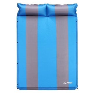 SEMOO Double Wide Self-Inflating Camping Sleeping Pad, Blue/Gray - Blue