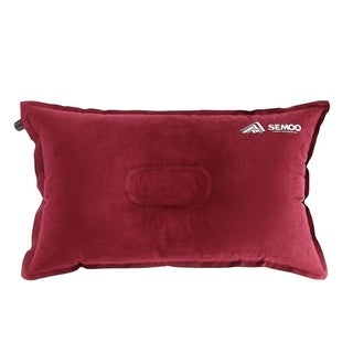 SEMOO Self-Inflating Camping and Compressible Travel Pillow, Red