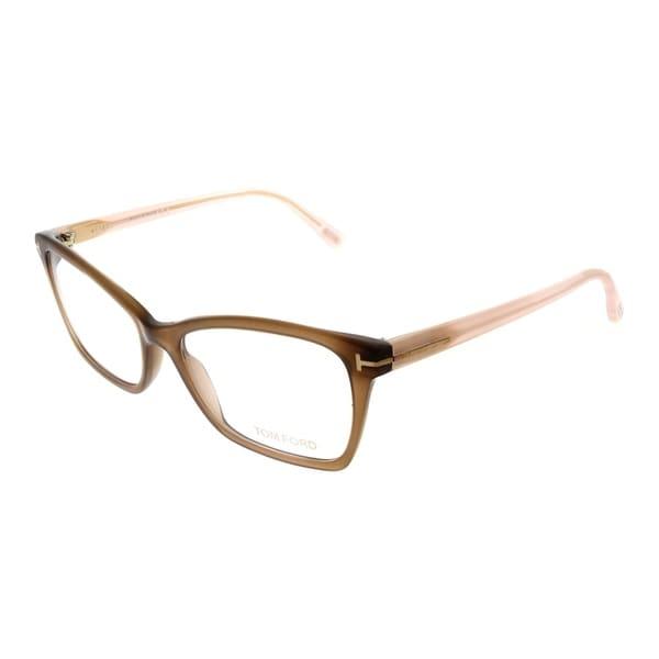 33150ded80fb Tom Ford Cat-Eye FT 5357 048 Women Brown Crystal Frame Eyeglasses