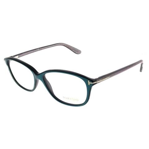 Tom Ford Rectangle FT 5316 087 Unisex Turquoise Frame Eyeglasses