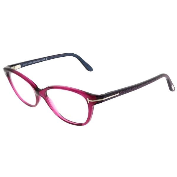 5798cf7a0a5e Shop Tom Ford Cat-Eye FT 5299 075 Women Berry Frame Eyeglasses ...