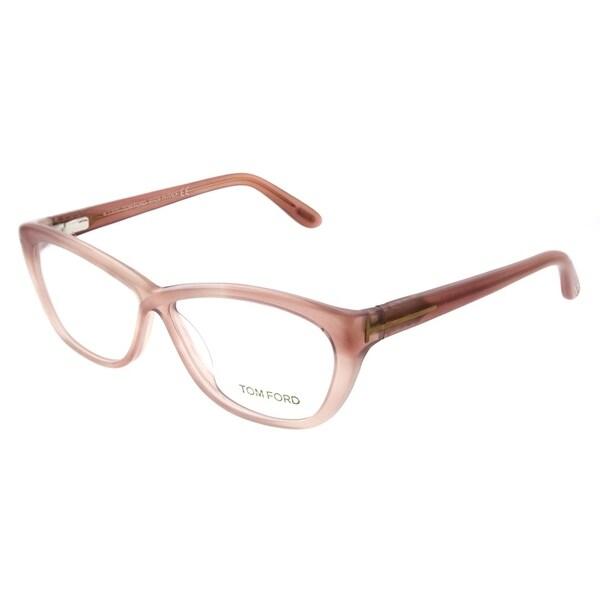 49f73fc3920f Shop Tom Ford Cat-Eye FT 5227 074 Women Pink Pastel Frame Eyeglasses ...
