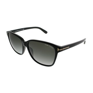 Tom Ford Rectangle TF 432 Dana 01B Unisex Black Frame Grey Gradient Lens Sunglasses